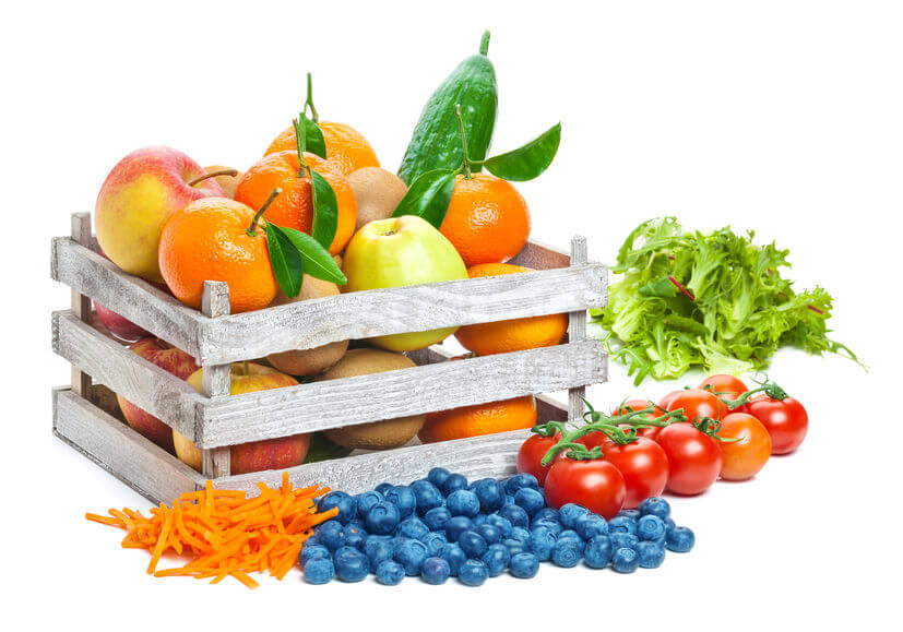 box overflowing with fresh fruit