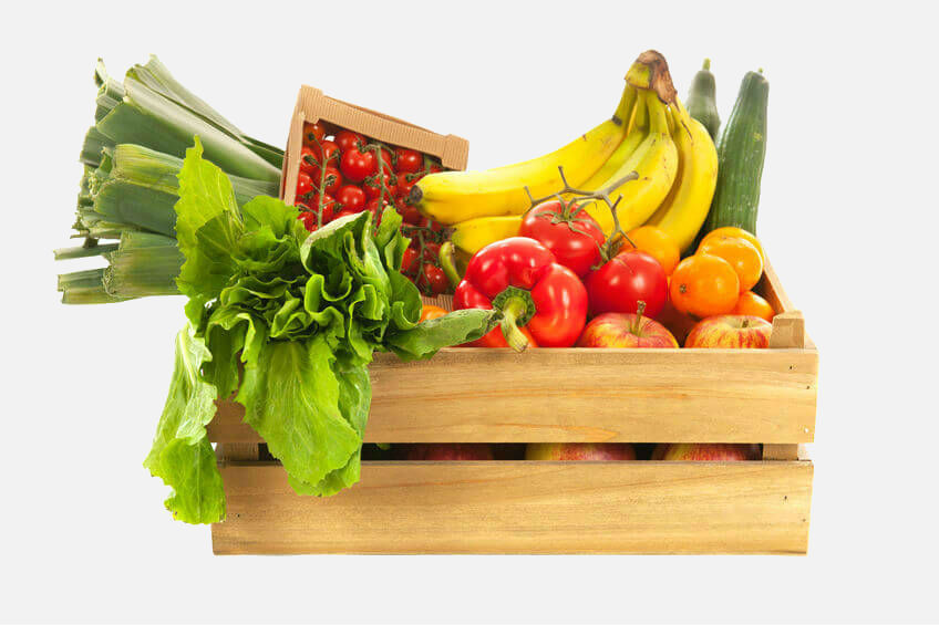box of fruit and veg