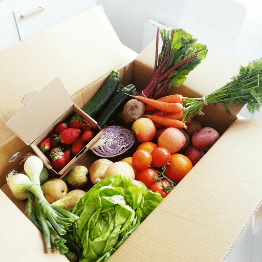 box of fresh fruit and veg